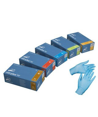 """Ръкавици нитрилни без талк """"NITRYLEX PF"""" - кут (200 бр)"""