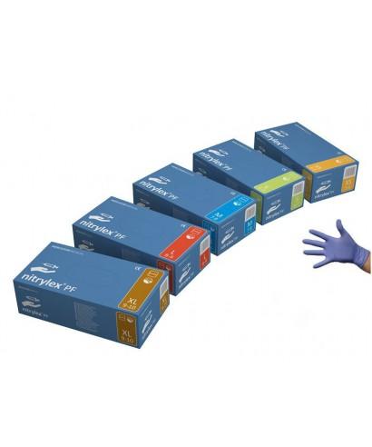 Ръкавици нитрилни без талк (NITRYLEX Complete Violet) * виолетови - кут(100 бр.)