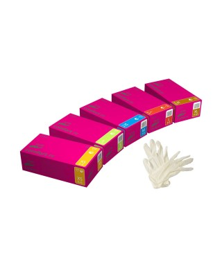 "Latex powder-free examination gloves ""Comfort PF"" - box of 100 pcs."