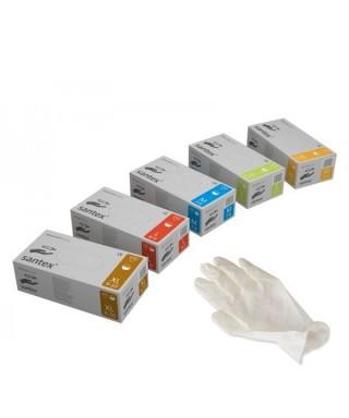 Ръкавици латексови с талк * Santex - 100 бр/кут.