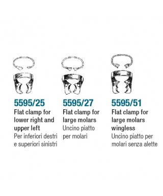 Клампа - плоска за големи молари