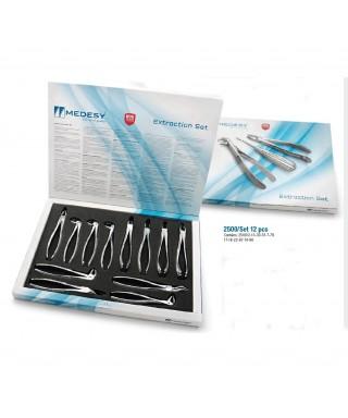 Комплект стоматологични клещи 2500 - 12 бр.