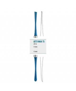 Распатор - периостален, титанов слой 24G (4 / 4)мм