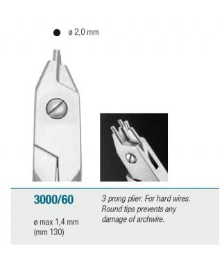 Клеща трираменна за оформяне на твърда тел - макс. ø 1,4 мм