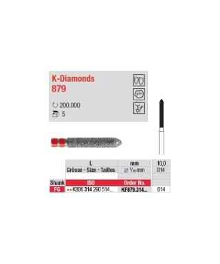 Diamond bur for Zirkonia crown preparation - KF879.314.014 (FG)