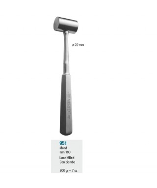 """Имплантологично чукче, оловно """"Partsch"""" - ø 22 мм / 170 г"""