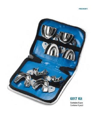 Комплект метални, ортодонтски отпечатъчни лъжици - 8 бр.