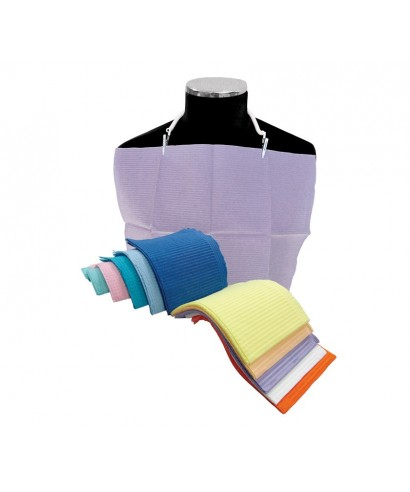 Лигавник кърпа - трипластов цветен - (33 х 45)см