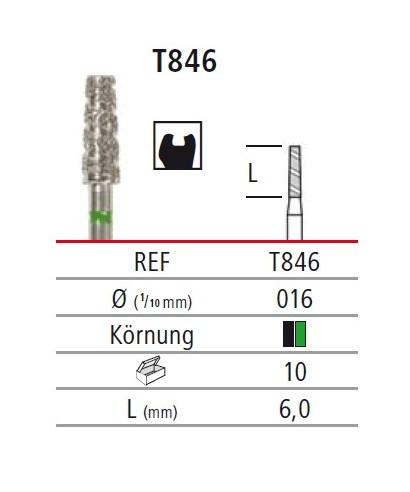 Диамантен борер - пресечен конус TURBO T846, турбинен