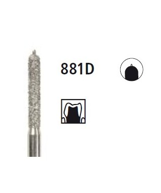 Диамантен борер - цилиндър с водач 881D, турбинен