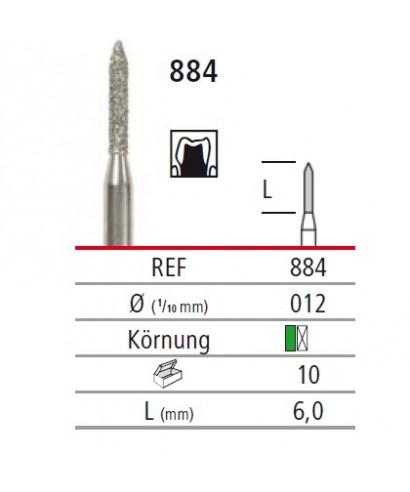 Диамантен борер - торпедо 884, турбинен