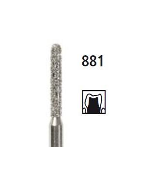 Диамантен борер - цилиндър със заоблен връх 881, турбинен