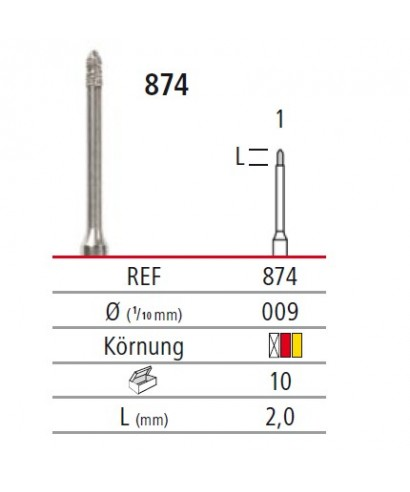 Диамантен борер - торпедо 874, турбинен