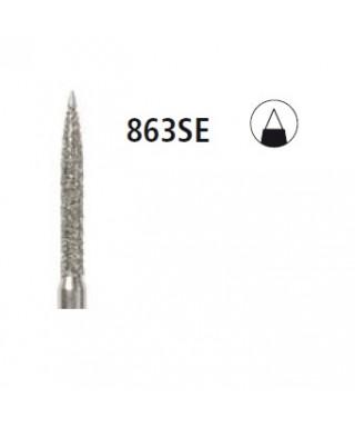 Диамантен борер - пламък с неактивен връх 863SE, турбинен