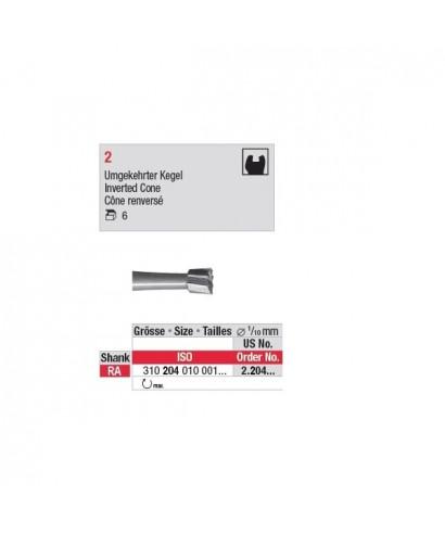 Стоманен борер, обратен конус * 2 (обратен наконечник)