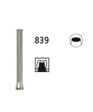 Diamond bur - cylinder active end 839, turbine FG