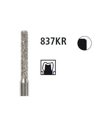 Диамантен борер - цилиндър заоблен ръб 837KR, турбинен