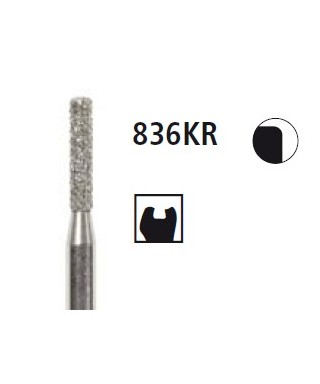 Диамантен борер - цилиндър, заоблен ръб 836KR, турбинен