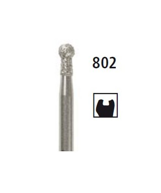 Diamond bur - ball with addition 802, turbine FG