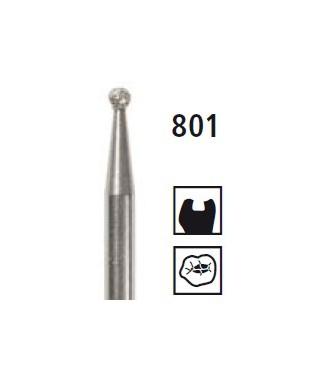 Diamond bur - ball 801, turbine FG