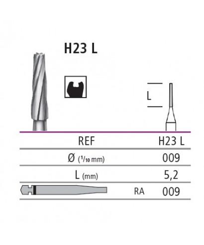 Твърдосплавен борер - фисурен (конус) Н23L RA