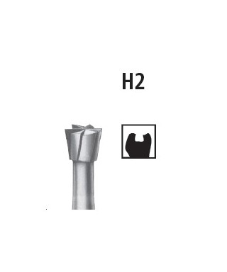 Tungsten carbide bur, inverted cone H2 * RA (contra angle)