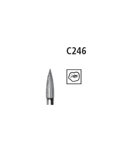 Твърдосплавен борер * финирен пламък (C246 012) - турбинен