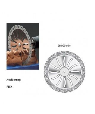 "Диамантен сепаратор за гипс ""Flex"" - монтиран, двустранен син - (ø 45мм)"