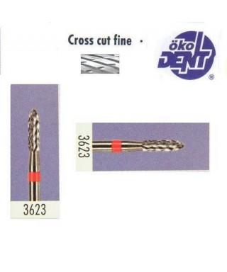 Твърдосплавна фреза червена*1, (ø 2,3 х 8)мм - HF3623