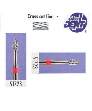 Твърдосплавна фреза червена*1, (ø 2,3 х 4)мм - HF51723