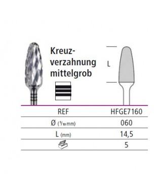 Твърдосплавна фреза черна (ø 6мм) - HFGE7160