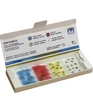 """Полирни дискове """"EVE FLEXI-D"""" (фи 14мм) композити,керамика и метал - СЕТ * Асорти (4 х 25 бр)"""