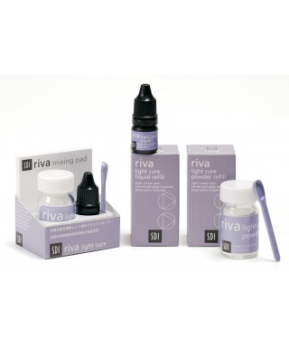 Light cured resin reinforced glass ionomer restorative material RIVA LC, kit