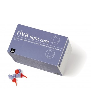 Light cured resin reinforced glass ionomer restorative material RIVA LC, capsule