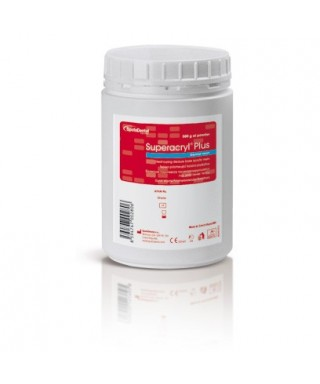 Heat-curing denture base resin Superacryl Plus, powder