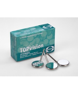 Rhodium TOPvision standard mouth mirror - plane