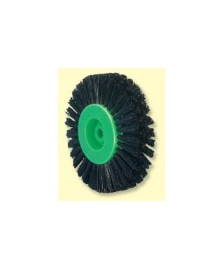 Полирна четка, 4-редов черен косъм (80 мм), зелена сърцевина