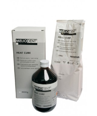 Мелиодент № 26 топлополимеризираща пластмаса - сет прах + течност (1 кг + 500 мл)