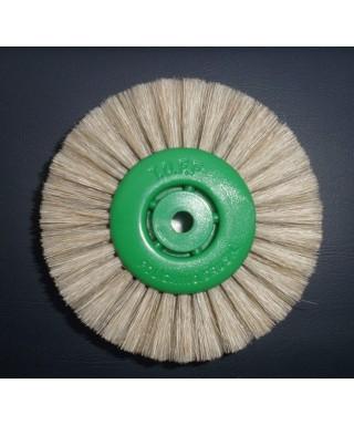 Четка за полирмотор - бял косъм четириредна