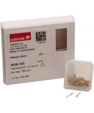 Retention parapulpal pin, single for handle