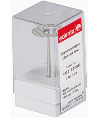 Монтиран диамантен сепаратор, фин / червен (ø22 x 0,15)мм