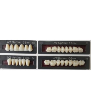 "Multilayered acrylic teeth ""NT Optima"" - full set"