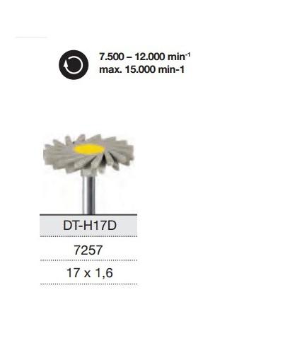 Полирна гума TWIST за керамика DT-H17D - монтирана