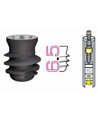 Short dental implant D5,0 / L6,5 mm with cover cap (Leone)