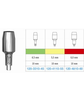 Cylinder abutment, large / wide (height 10 mm)