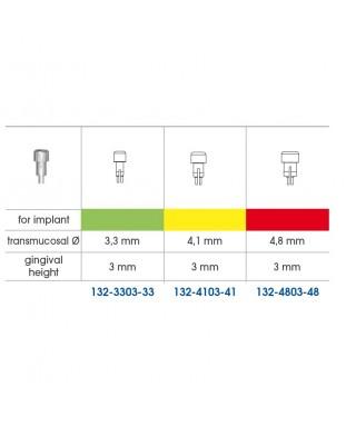 Тънка заздравителна надстройка, гингивална височина GH 3 мм