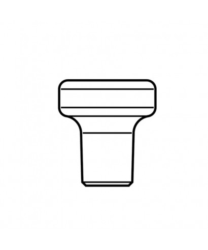 Голяма заздравителна надстройка за имплант D4,1 мм