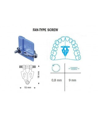 Fan type screw, expansion 9 мм (Leone)