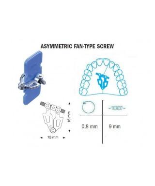 Asymmetric fan type screw, 9 mm (Leone)