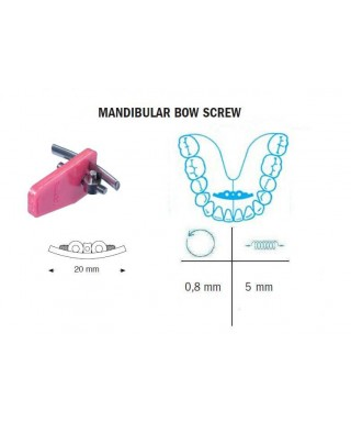 Mandibular bow screw 5 / 20 mm (Leone)